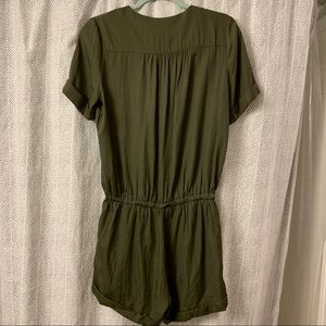 Anthropologie Pants - Limiere  Army Green Romper ✨Anthropologie✨